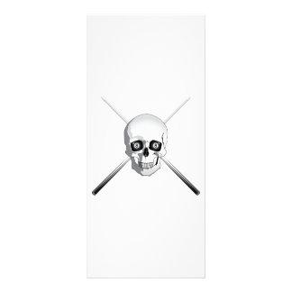 Skull and Pool Cues Rack Card