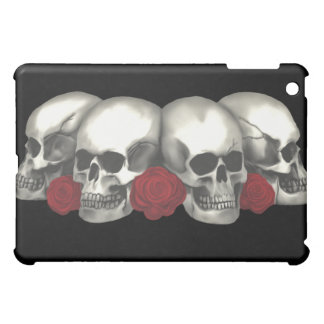 skull and red roses iPad mini covers