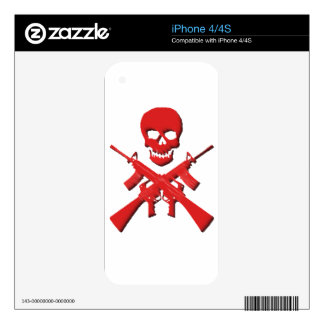 Skull and Rifles iPhone 4S Decal