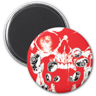 Skull and Rings - Red 2 Inch Round Magnet