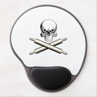 Skull and Rolling Pins Gel Mouse Pad