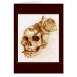 Skull and Rose Greeting Card