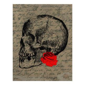 Skull and rose letterhead