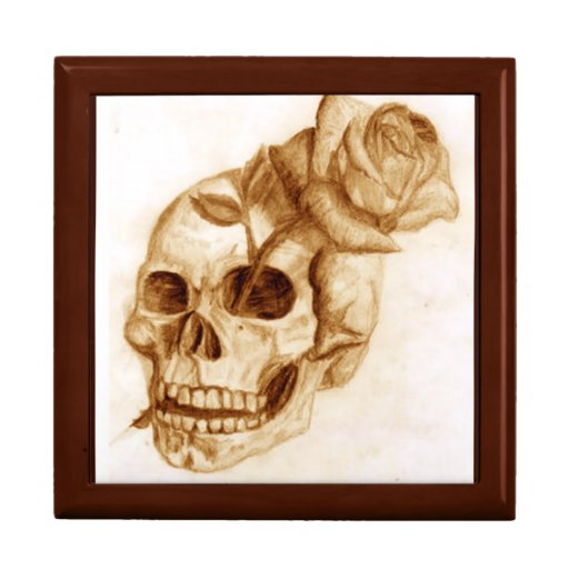 Skull and Rose Trinket Boxes