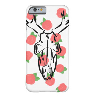Skull and Roses Barely There iPhone 6 Case