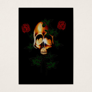 Skull and Roses Business Card