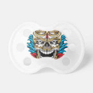 SKULL AND ROSES by THE ART DUMP Pacifier