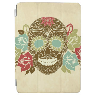 Skull And Roses, Colorful Day Of The Dead Card 2 iPad Air Cover