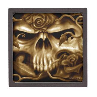 Skull and Roses Custom Airbrush Original Design Premium Gift Box