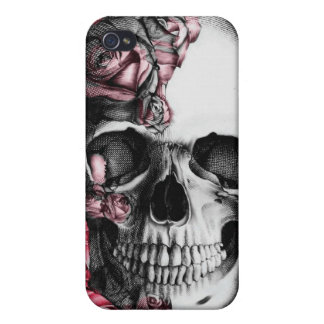 Skull and Roses I Phone Cover