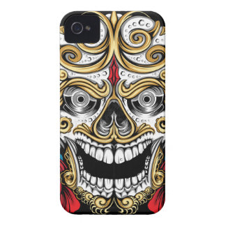 SKULL AND ROSES iPhone 4 CASES by THE ART DUMP