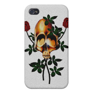Skull and Roses Cases For iPhone 4