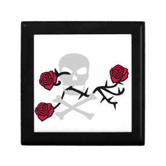 Skull and Roses Jewelry Box