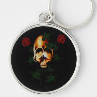 Skull and Roses Key Chains