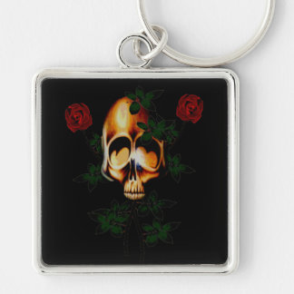Skull and Roses Keychains