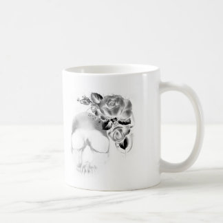 Skull and roses classic white coffee mug
