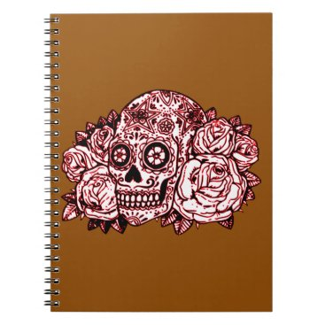 Halloween Themed Skull and Roses Notebook