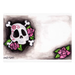 Skull and Roses Personalized Invite