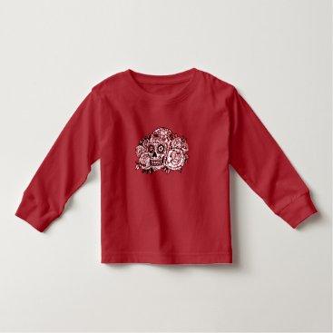 Halloween Themed Skull and Roses Toddler T-shirt