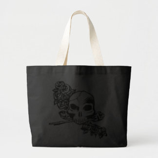 skull and roses tote bags