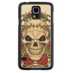 Skull and Roses with Crown Of Thorns by Al Rio Carved® Maple Galaxy S5 Slim Case