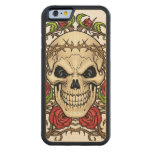 Skull and Roses with Crown Of Thorns by Al Rio Carved® Maple iPhone 6 Bumper Case