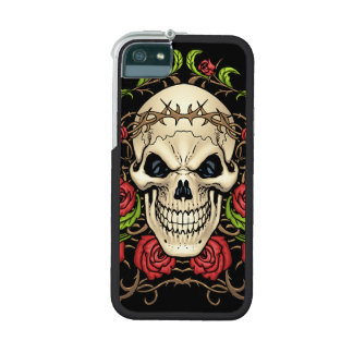 Skull and Roses with Crown Of Thorns by Al Rio iPhone 5 Case