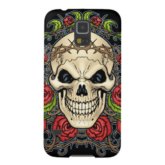 Skull And Roses With Crown Of Thorns By Al Rio Galaxy S5 Cover