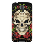 Skull and Roses with Crown Of Thorns by Al Rio Galaxy S5 Cases