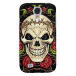 Skull and Roses with Crown Of Thorns by Al Rio Galaxy S4 Case