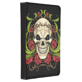 Skull and Roses with Crown Of Thorns by Al Rio Kindle Cover