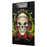 Skull and Roses with Crown Of Thorns by Al Rio Clipboards