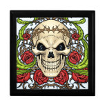 Skull and Roses with Crown Of Thorns by Al Rio Jewelry Boxes