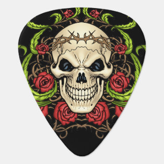 Skull and Roses with Crown Of Thorns by Al Rio Pick