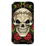 Skull and Roses with Crown Of Thorns by Al Rio Incipio Watson™ iPhone 6 Wallet Case