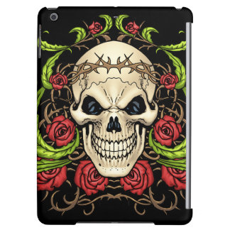 Skull and Roses with Crown Of Thorns by Al Rio iPad Air Covers