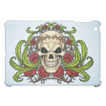 Skull and Roses with Crown Of Thorns by Al Rio Cover For The iPad Mini