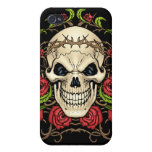 Skull and Roses with Crown Of Thorns by Al Rio iPhone 4 Case