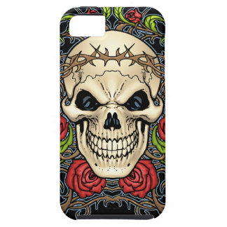 Skull and Roses with Crown Of Thorns by Al Rio iPhone SE/5/5s Case