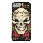 Skull and Roses with Crown Of Thorns by Al Rio Barely There iPhone 6 Case