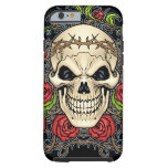 Skull and Roses with Crown Of Thorns by Al Rio iPhone 6 Case
