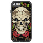 Skull and Roses with Crown Of Thorns by Al Rio Tough Xtreme iPhone 6 Case
