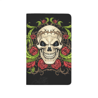 Skull and Roses with Crown Of Thorns by Al Rio Journal