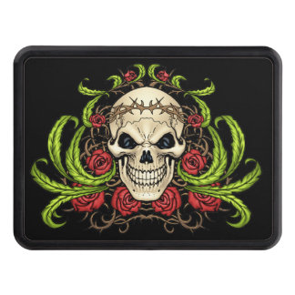 Skull and Roses with Crown Of Thorns by Al Rio Hitch Cover