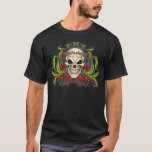 Skull and Roses with Crown Of Thorns by Al Rio T-Shirt