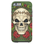 Skull and Roses with Crown Of Thorns by Al Rio Tough iPhone 6 Case