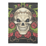 Skull and Roses with Crown Of Thorns by Al Rio Tyvek® Card Wallet