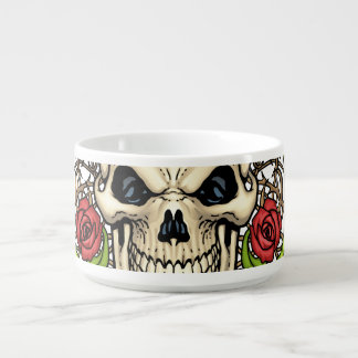 Skull and Roses with Crown Of Thorns by Al Rio Chili Bowl