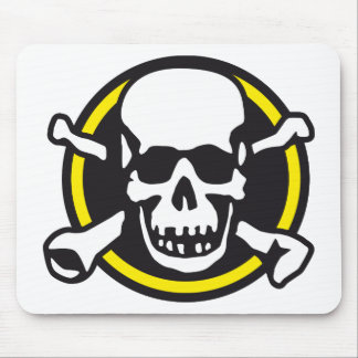 skull and ruedas rock bones and and mouse pads
