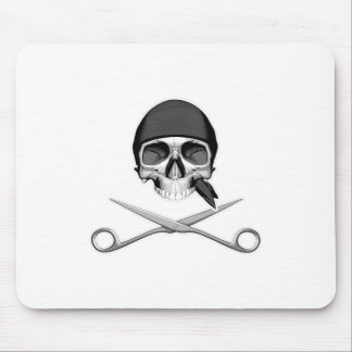Skull and Scissors Mouse Pad